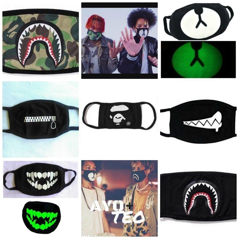 422bd290 Face Mask Bape Bathing Ape Ayo and Teo Dance EDM EDC RAVE KPOP Exo Bear Flu  Shark