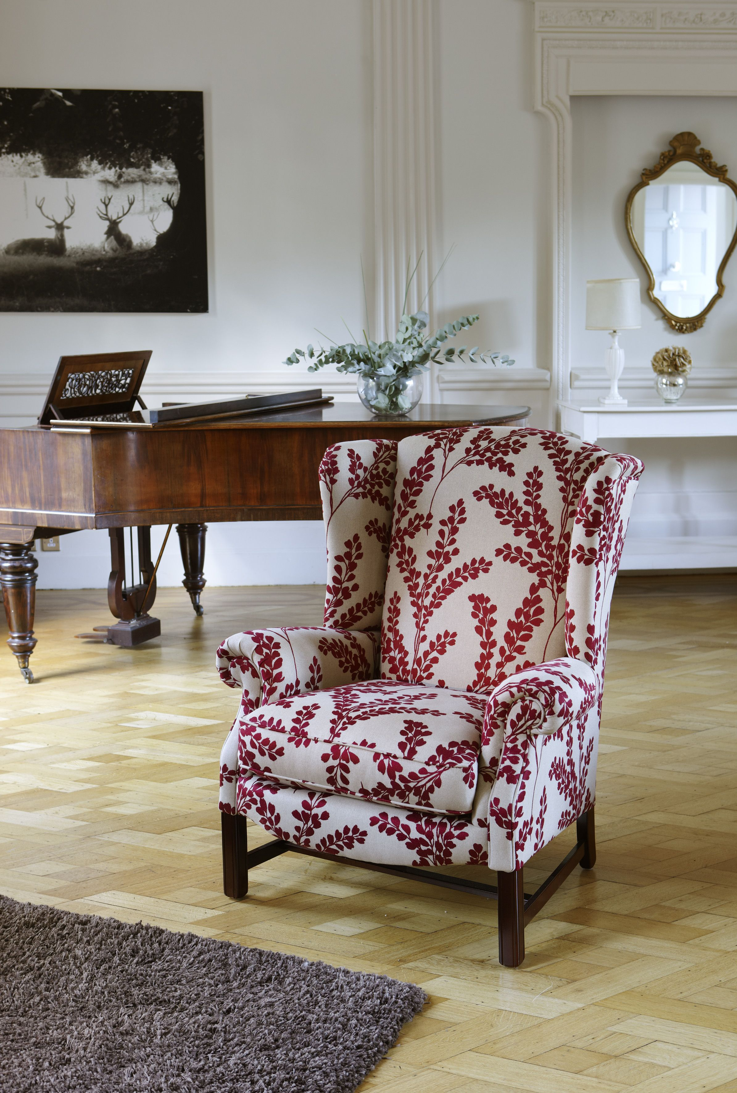 Sinatra Chair In Sanderson S Clovelly Armchairs Wing
