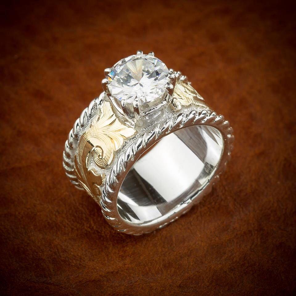 Western style diamond ring Western wedding rings