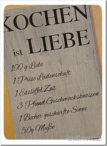 Kochen Ist Liebe Wood Sign Hochzeit Liebe Spruche Und Liebe