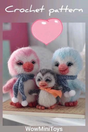 Tiny penguin crochet pattern