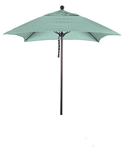 Eclipse Collection 6' Fiberglass Market Umbrella PO DVent Bronze/Sunbrella/Specturm Mist