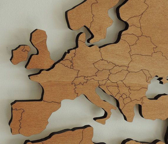 3d houten wereldkaart met gegraveerde landgrenzen zwevend for 3d slaapkamer maken