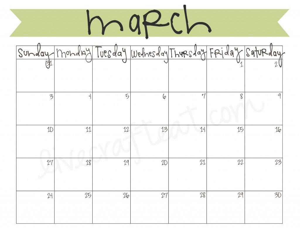 March 2013 Calendar Free Printable 2016 Calendar Printable