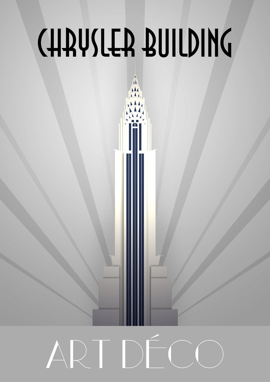 Retro Chrysler Building Poster With Images Art Deco Artwork