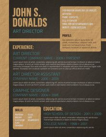 Stylish CV Template | school | Pinterest | Cv template, Template and ...