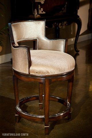 Marge Carson Tango Swivel Arm Counter Stool Furniture