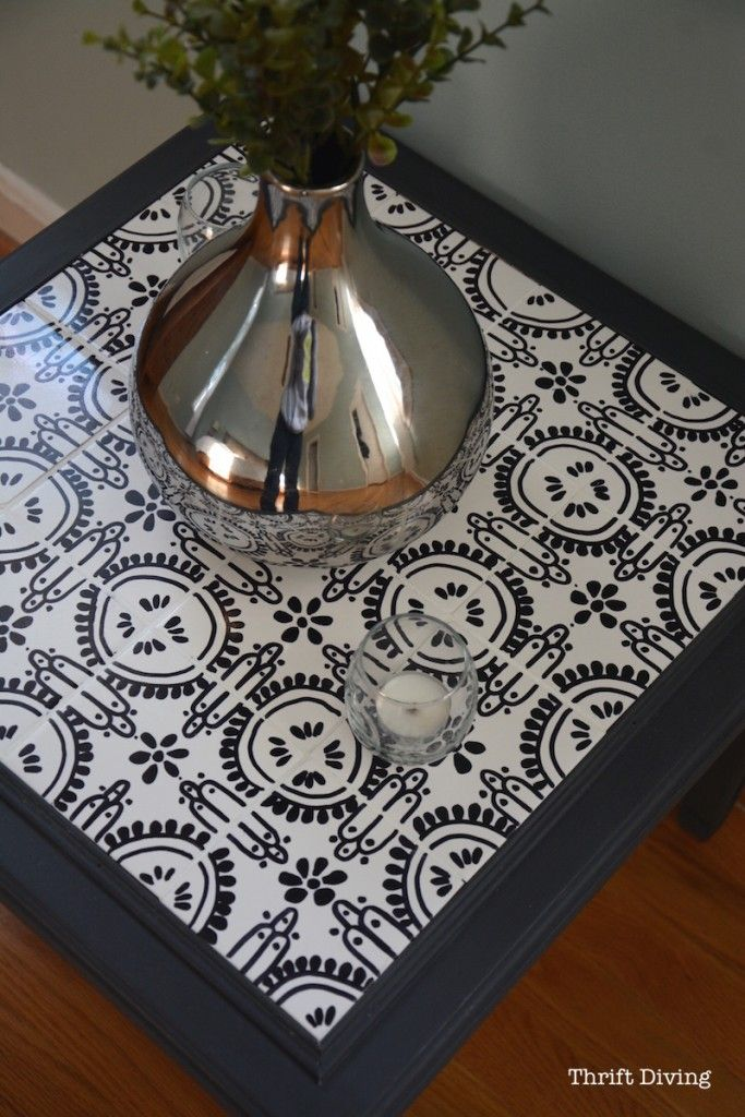How To Tile A Table Top With Your Own Ceramic Tiles Hand Drawn