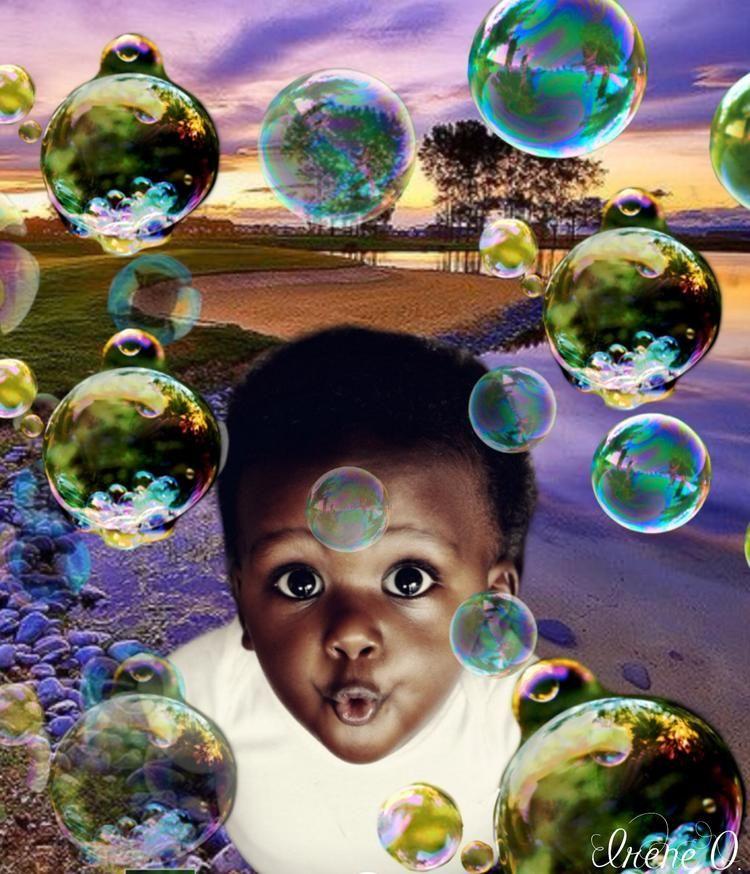 Blowing bubbles :) @Bazaart