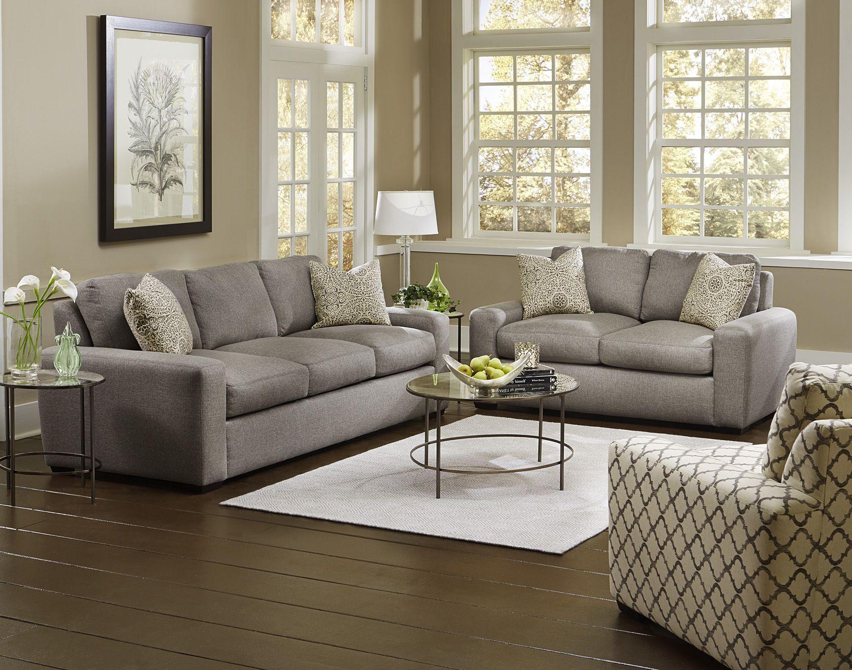 England Furniture 2t00 In Grande Pewter And Tachenda Greystone Fabrics Buy Home Furniture Furniture Modern Furniture Living Room