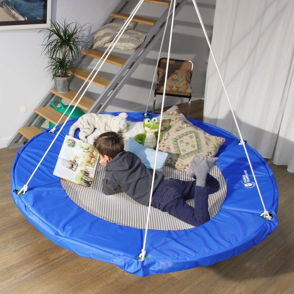 Mobilier D Interieur Design Suspendu Espace Cocooning Ideal Pour Les Enfants Realise Avec Un Filet D Habitatio Filet D Habitation Interieur Design Mobilier