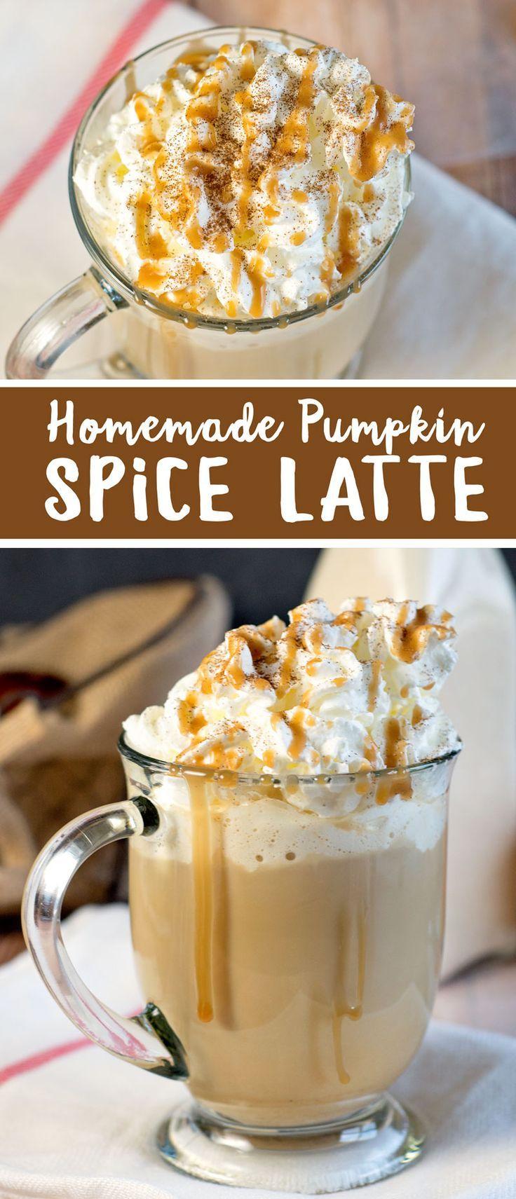 Homemade Pumpkin Spice Latte Recipe Made with milk