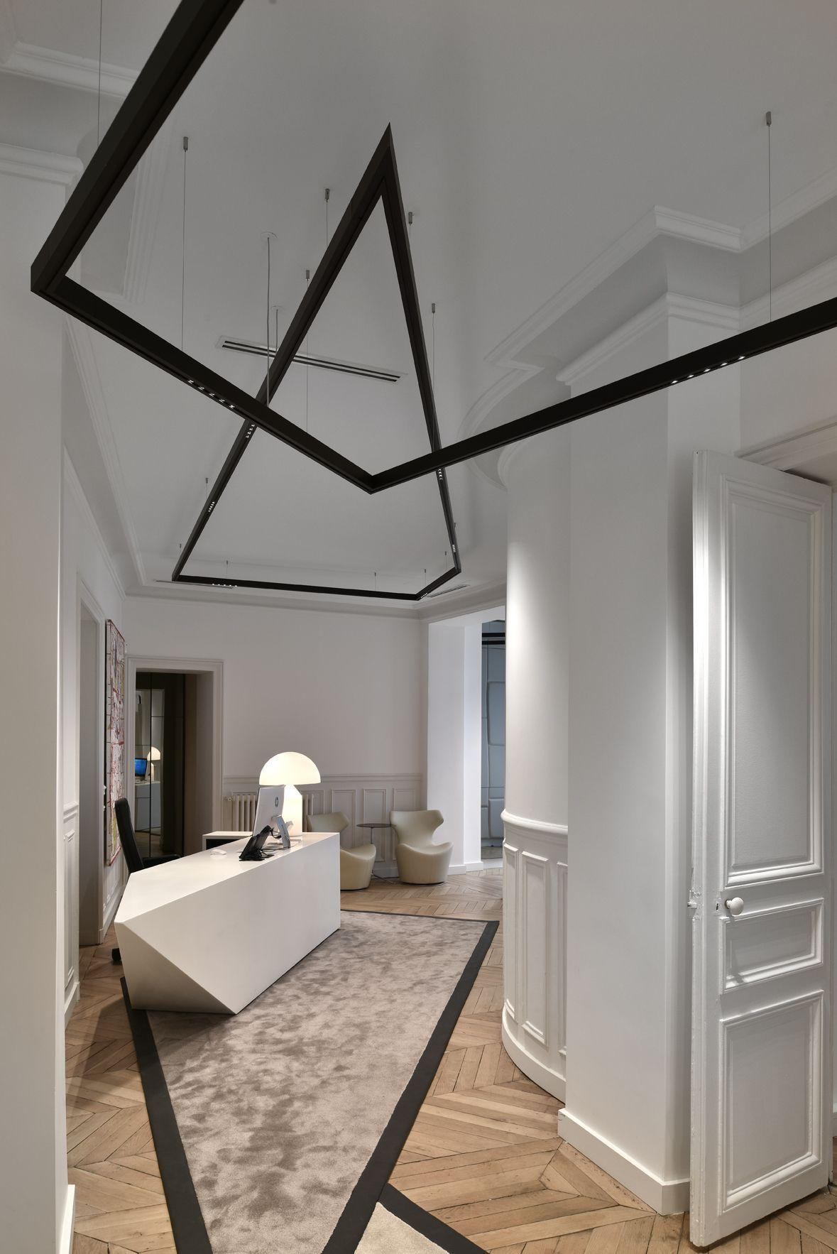 black kreon nuit pendant profile aluminium powder coated LED ...