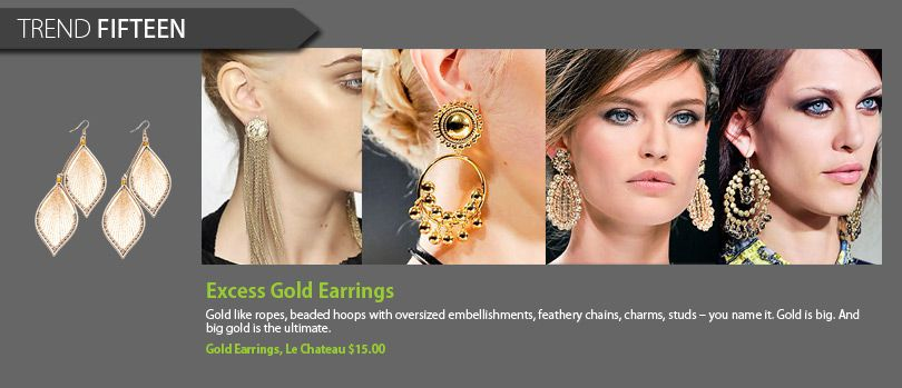 Excess Gold Earrings