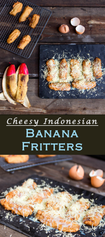 Cheesy Indonesian Banana Fritters Foodiestory Recipe Banana Fritters Fritters Fruit Dishes