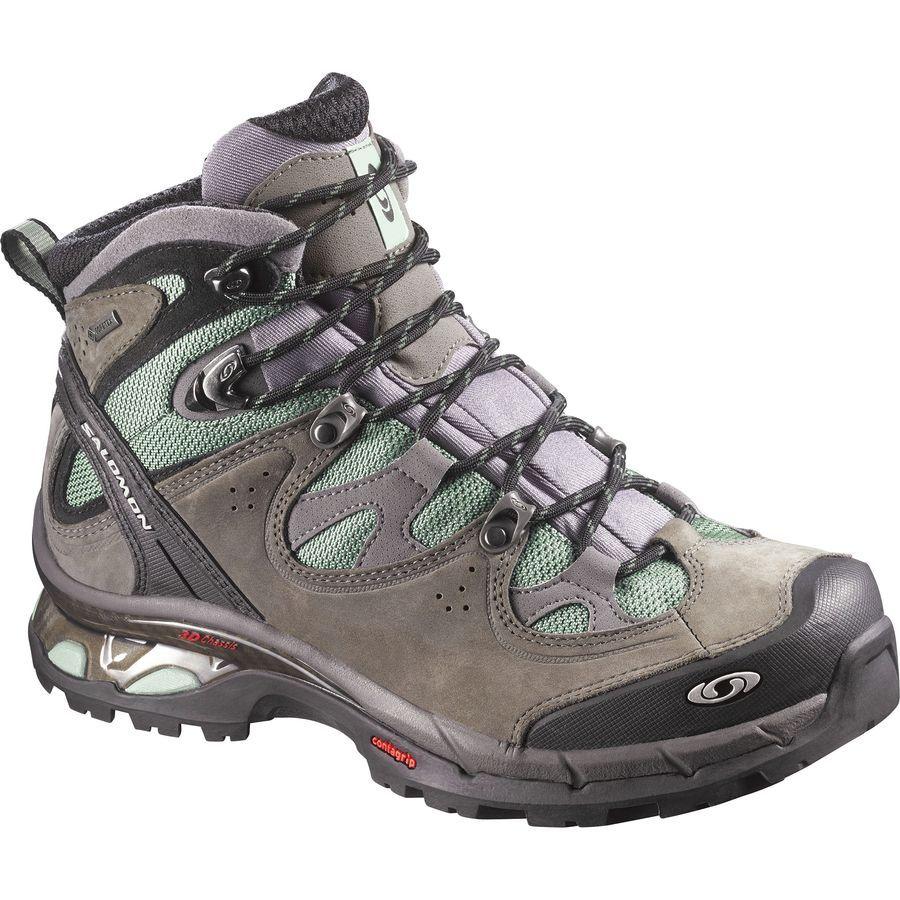 Explore Hiking Boots Women, Women's Hiking Boots, and more! Salomon - Comet  3D GTX Backpacking Shoe - Women's - Lichen Green/Autobahn/Lichen