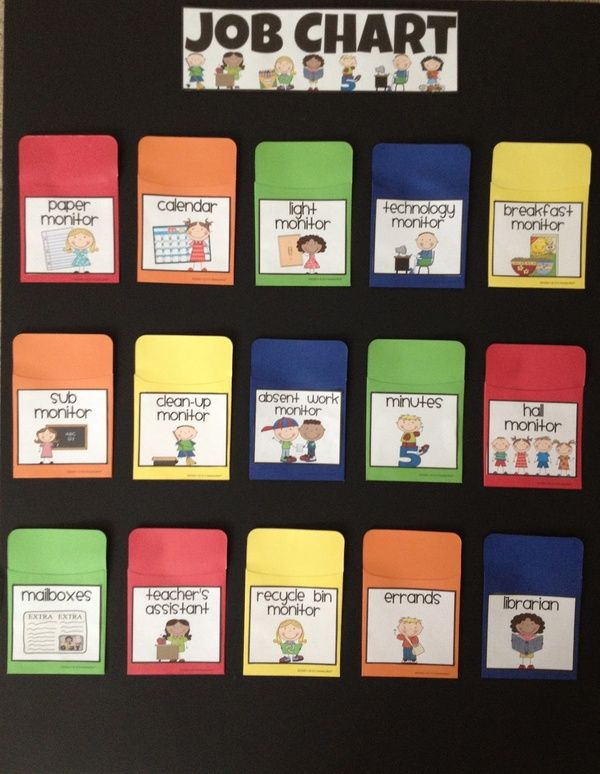 Easy classroom job chart! Use Popsicle sticks. I like this better than what I use now!