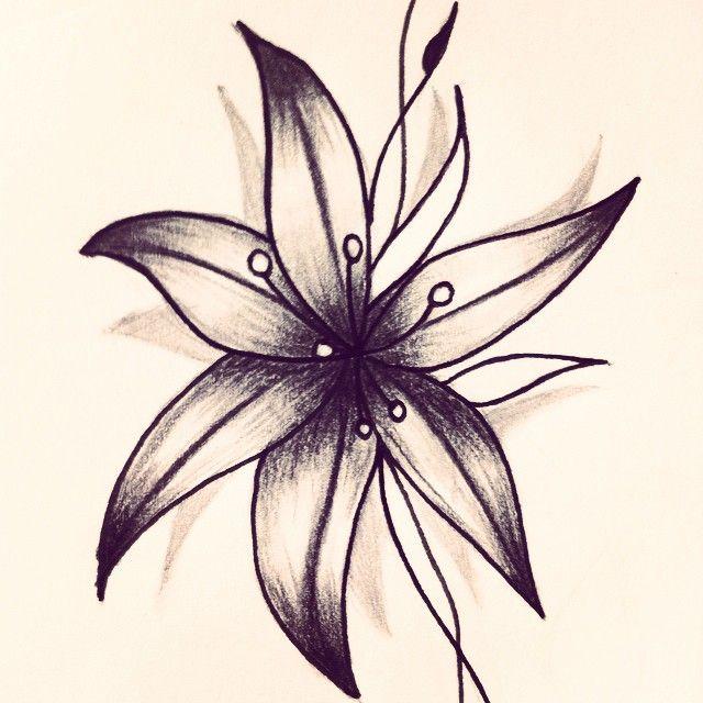 Mulpix ink tatoo tattoo tatouage flower lys flash - Fleur tatouage dessin ...