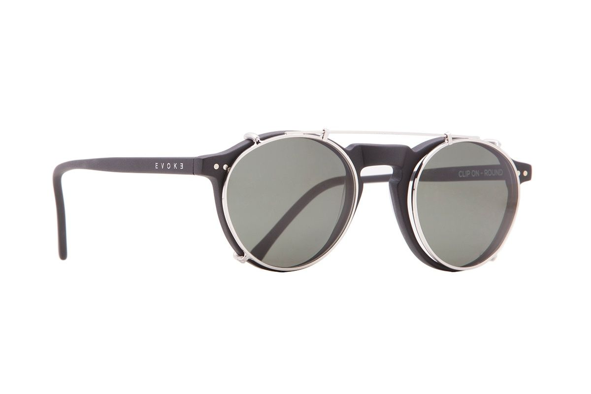 d2e73d8b8 Evoke clip on round black | glasses | Acessórios