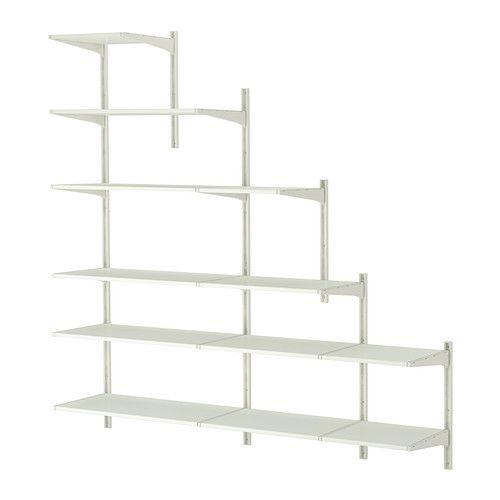 Best Ikea Algot White Wall Upright Shelves Shelves Closet 400 x 300