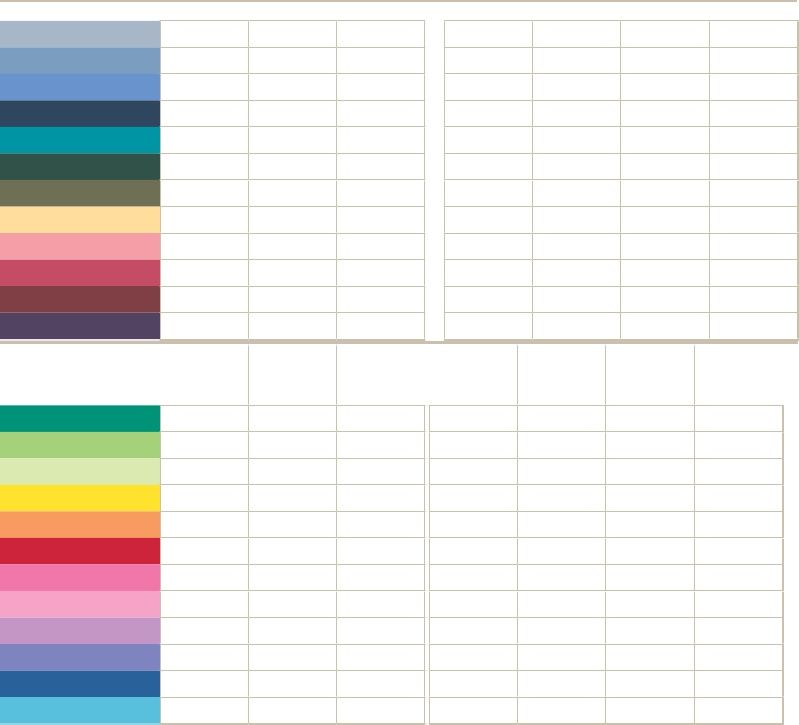 Su Color Value Chart (Rgb) - 2009-2010 In Colors Included
