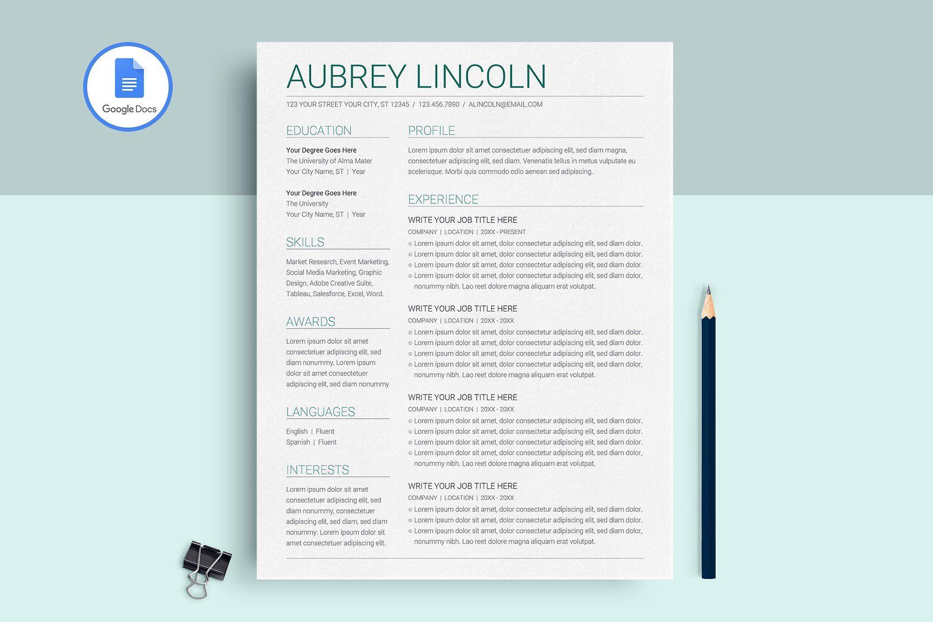 Google docs resume template resume template resume