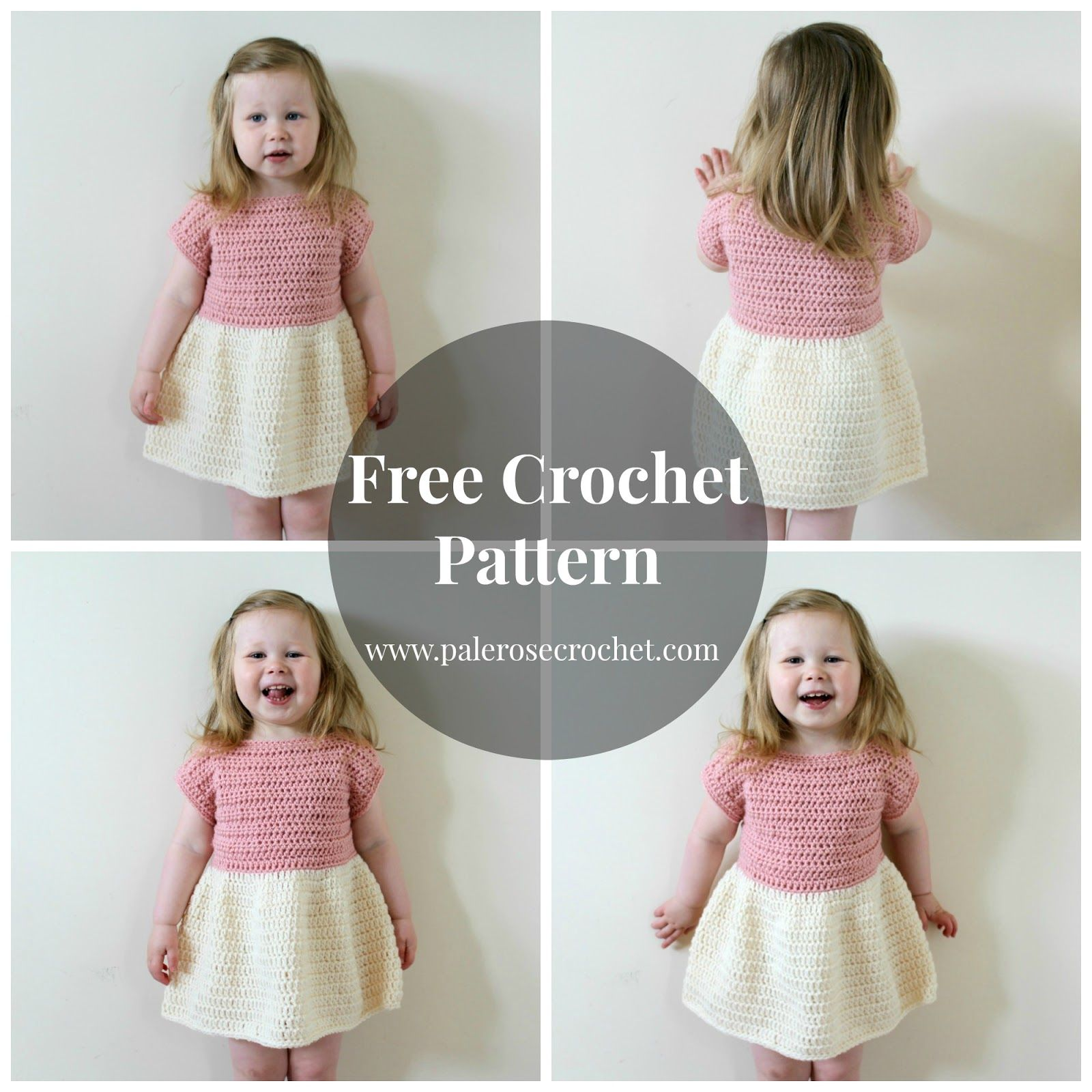Pale rose crochet toddler party dress crochet pattern crochet pale rose crochet toddler party dress crochet pattern bankloansurffo Image collections
