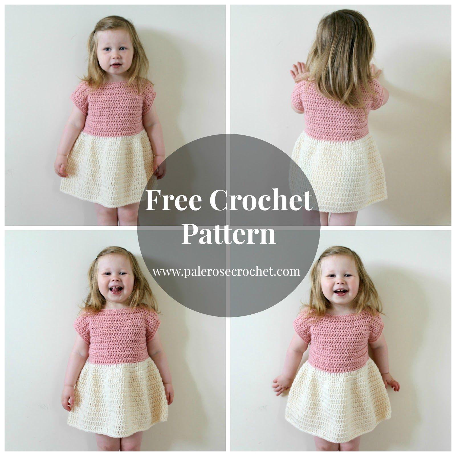 Pale Rose Crochet: Toddler Party Dress Crochet Pattern | Crochet ...