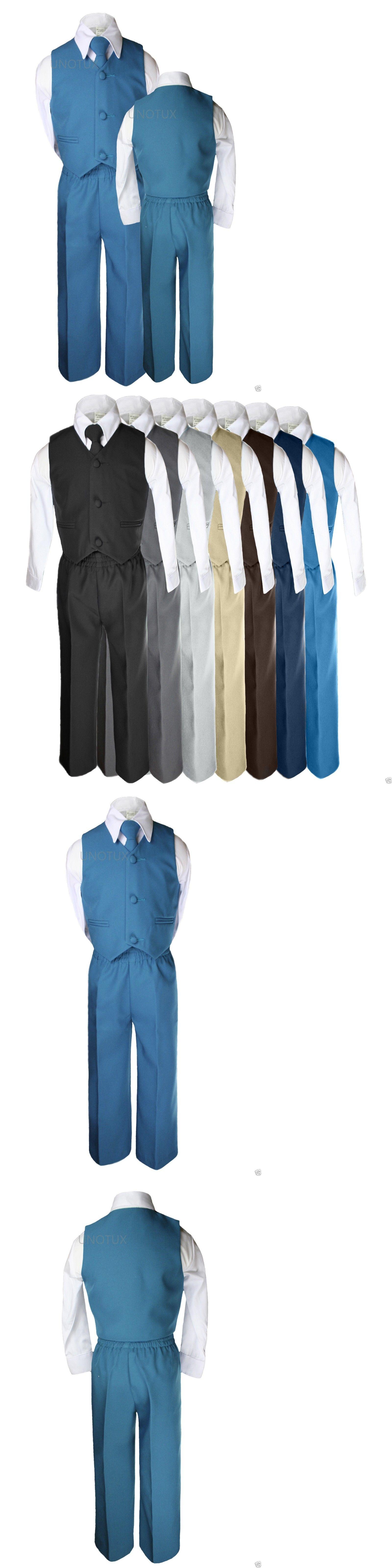 Suits 147337: Baby Boys Kids Wedding Formal Party Vest Set Blue ...