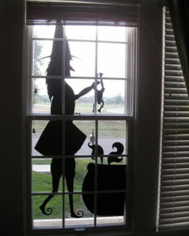 Genial Eternelle Sorcière Au Nez Crochu Halloween Window Decorations, Holidays  Halloween, Halloween 2015, Halloween