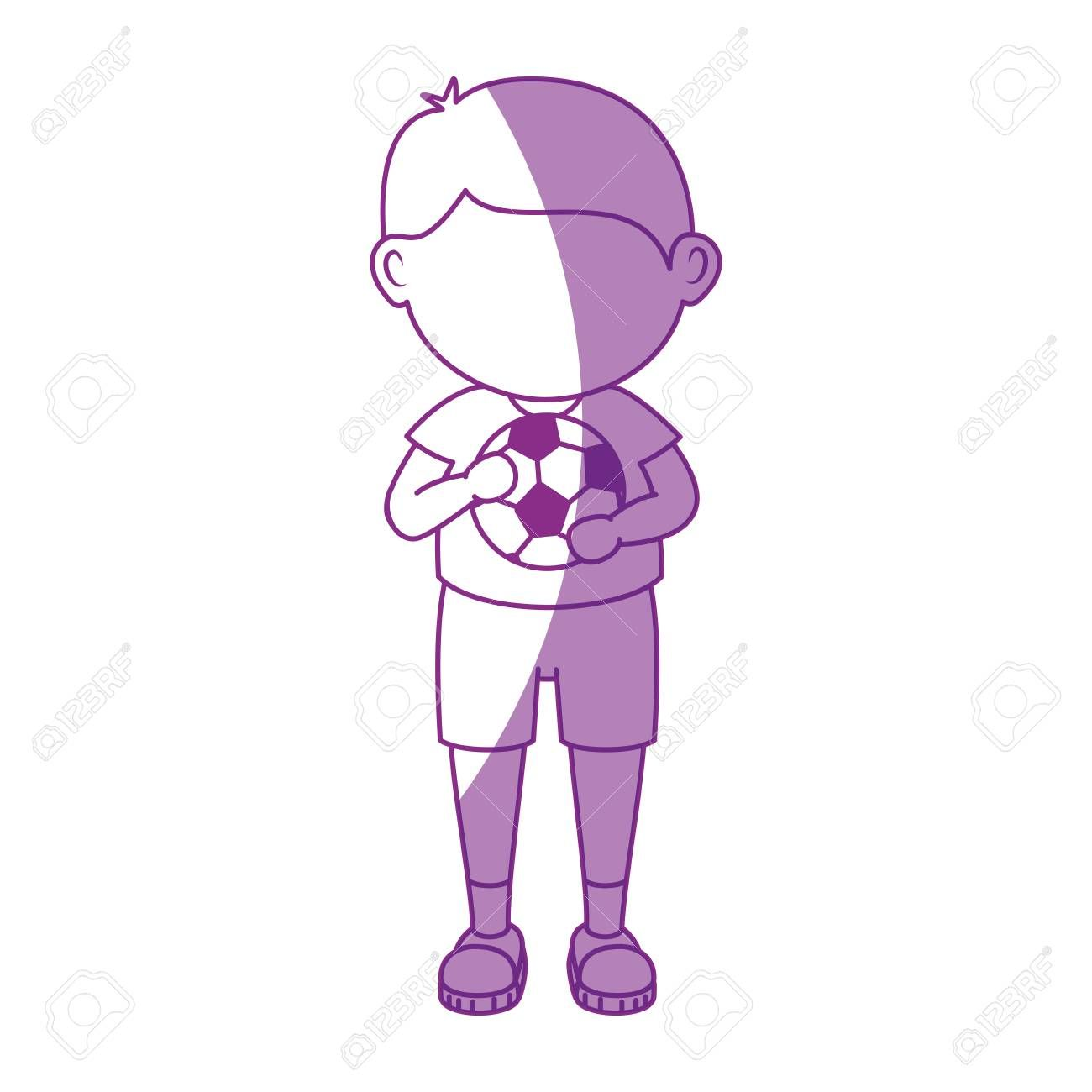Boy With Soccer Ball Cartoon Icon Vector Illustration Graphic Design Illustration Spo In 2020 Illustration Artwork Drawing Graphic Design Illustration Cartoon Icons