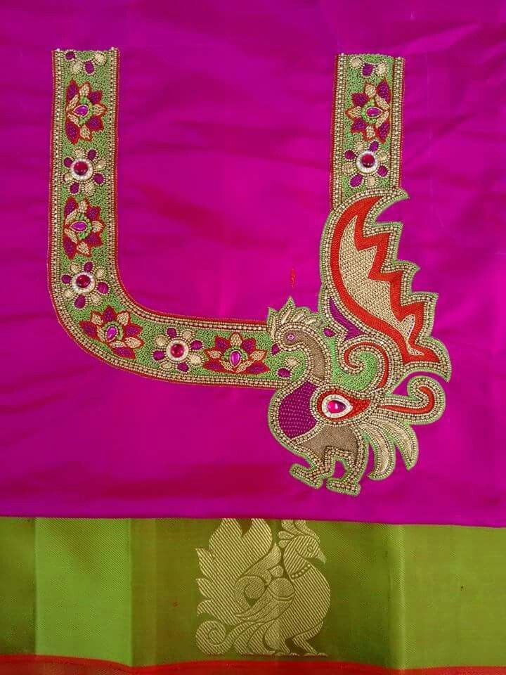 Pin By Prithivya On Indian Embroidery Pinterest Blouse Designs