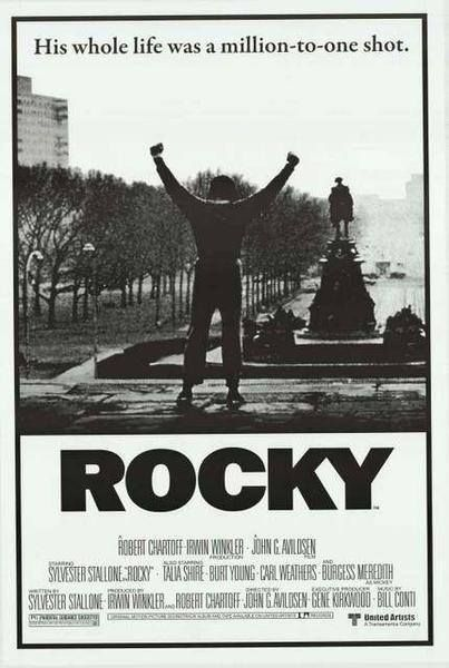Rocky Arms Up Sylvester Stallone Rare Vintage Poster Classic Movie Posters Movie Posters Vintage Rocky Poster