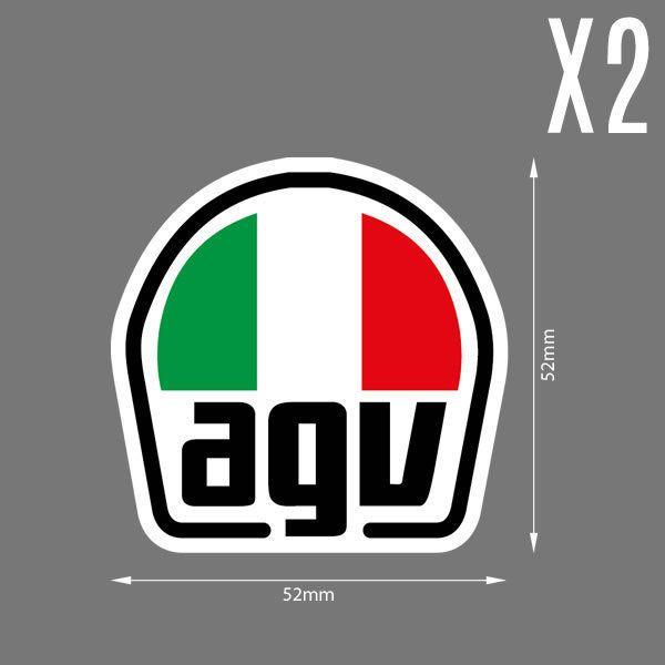 2 X Agv Casque Helmet Italy Rossi Moto Vespa Scooter Sticker Decal Hd Quality Moto Vespa Vespa Scooter