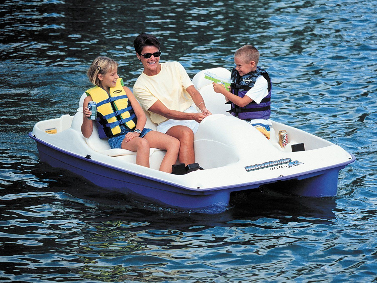 Amazon.com  Sun Dolphin Water Wheeler Electric ASL 5 Person Pedal Boat with Canopy  sc 1 st  Pinterest & Amazon.com : Sun Dolphin Water Wheeler Electric ASL 5 Person Pedal ...