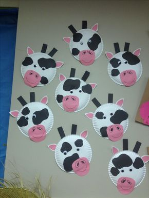 paper plate cow craft... Farm animals week for classroom preschoolers & paper plate cow craft... Farm animals week for classroom ...