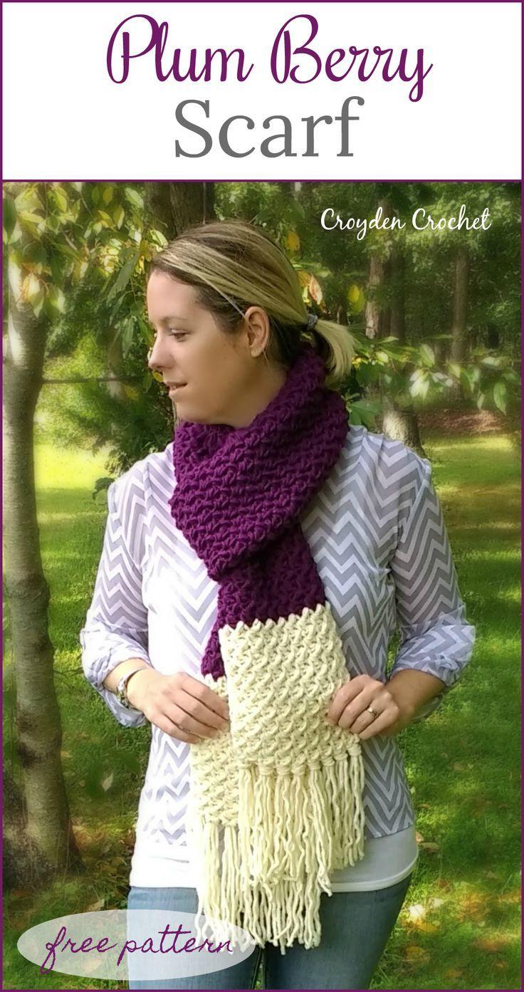 Plum Berry Scarf - Free crochet pattern by