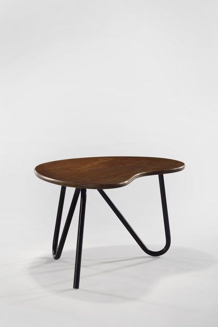 Pierre Guariche; Oak and Painted Metal 'Prefacto' Table, 1950s.
