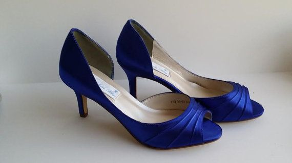 Sapphire Blue Wedding Shoes Sapphire Blue Bridal Shoes Sapphire Blue Bridesmaid Shoes Pick From 100 Colors Bridesmaid Shoes In 2020 Blue Bridal Shoes Blue Wedding Shoes Sapphire Blue Weddings
