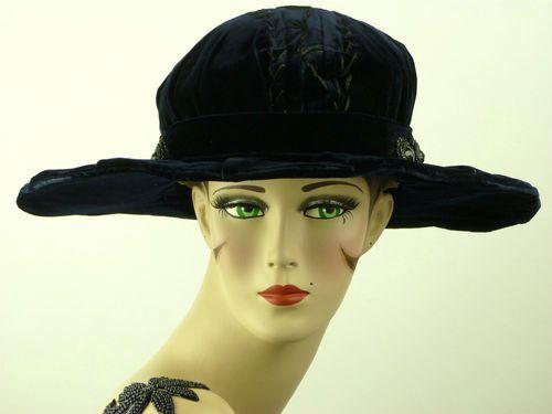 9bfb03865 Blue velvet hat (Front), France, 1910-1915~   I should have lived ...