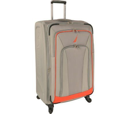 Nautica Timoneer 25 Inch Expandable Spinner, Grey/Orange, One Size