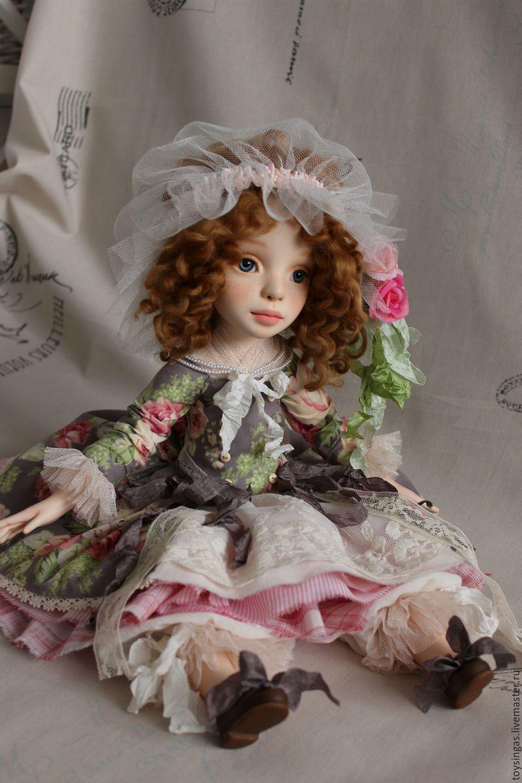 Купить Лиза! - бледно-розовый, салатовый, серый, кукла ручной работы, кукла, кукла в подарок