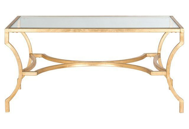 """Amber 37"""" Coffee Table, Gold"""