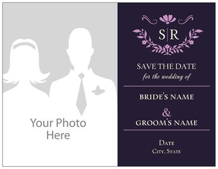 Staples Copy Print Horizontal Flat Save The Date Cards
