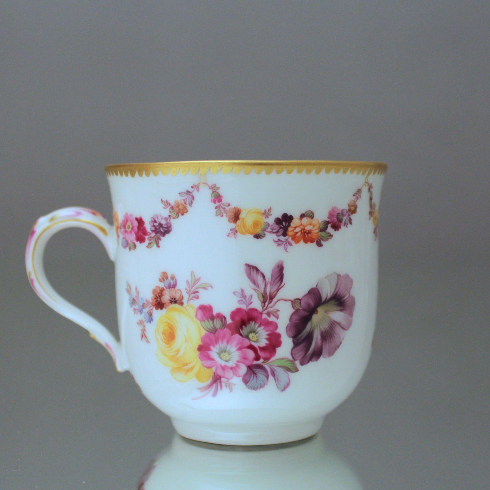 KPM Berlin: Kaffeetasse mit Blumengirlanden Blumen Vielzahn Tasse Jugendstil cup in Antiquitäten & Kunst, Porzellan & Keramik, Porzellan | eBay