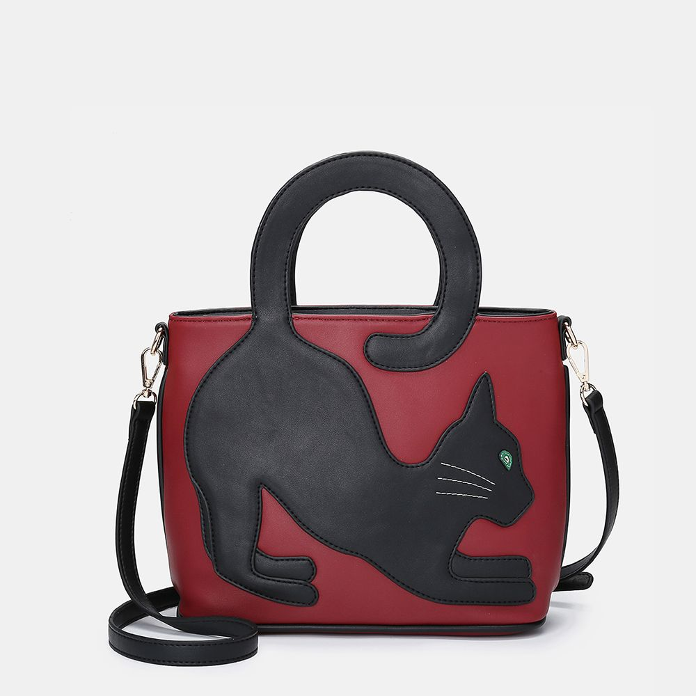 Women Cat Pattern Handbag Crossbody Bag Kleider Damen Geschenkideen Moda Fashions Trends Bags Handbag Wom In 2020 Handtasche Umhangetasche Handtaschen Taschen