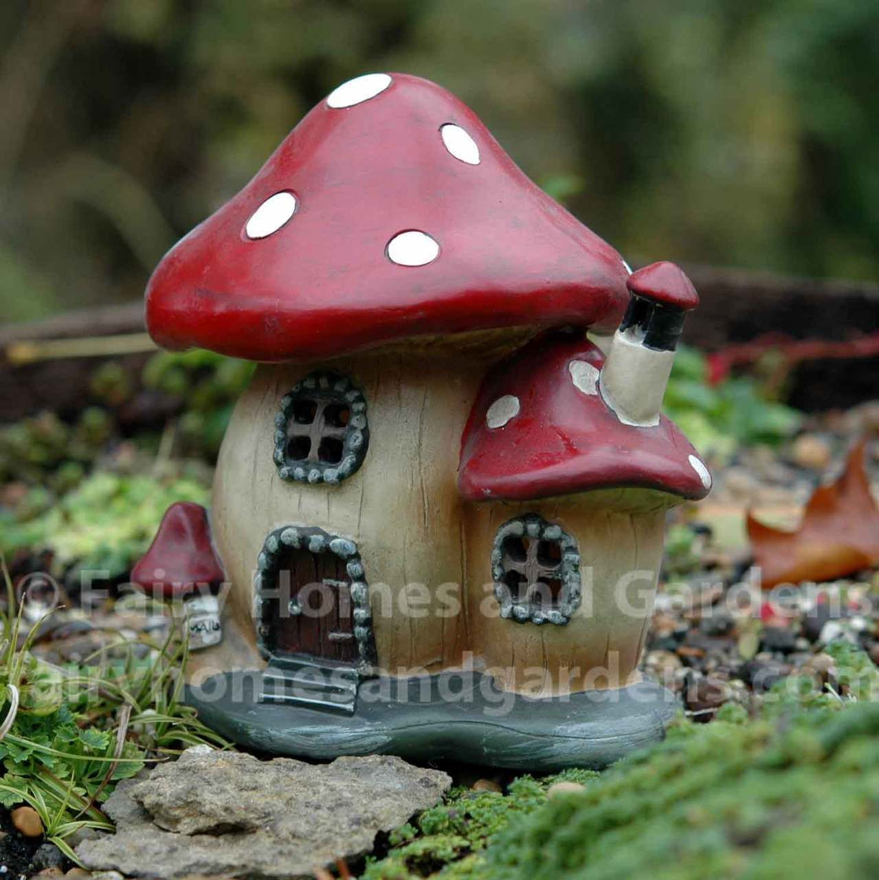 Gnome Garden: Miniature Lighted Mushroom House