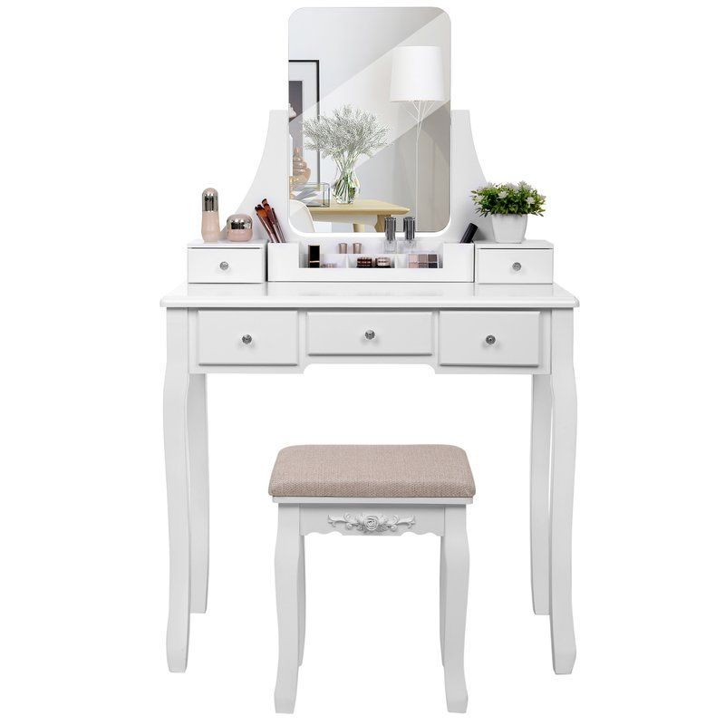 on sale e86fc 1d801 Amber Dressing Table Set with Mirror   Final room ideas ...