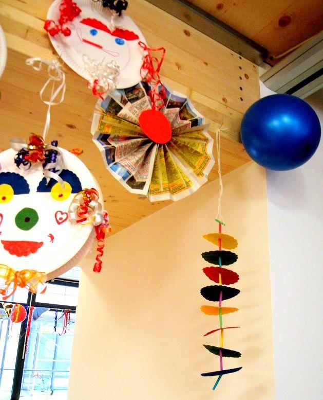 Lustige st bchenfiguren fasching basteln meine enkel und ich made with - Fasching im kindergarten basteln ...