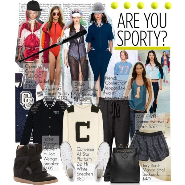 Sporty Trend by edenslove on Polyvore featuring мода, Chloé, Opening Ceremony, Victoria's Secret, French Connection, Madewell, Isabel Marant, Converse, Tory Burch and Eugenia Kim